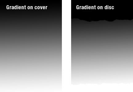 Gradient Design Example for vinyl and cd packaging