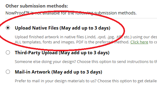Can I upload a  psd file or native file from my design