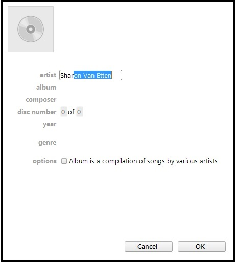 how to submit a cd to the gracenote database using itunes 12 disc